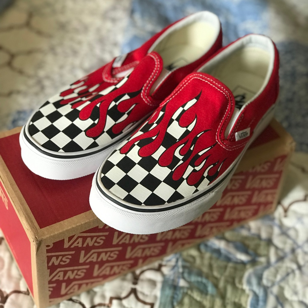 Vans Classic Slip-On, Checkered Flame