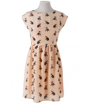 not super crazy about the cats, but love the style of this dress