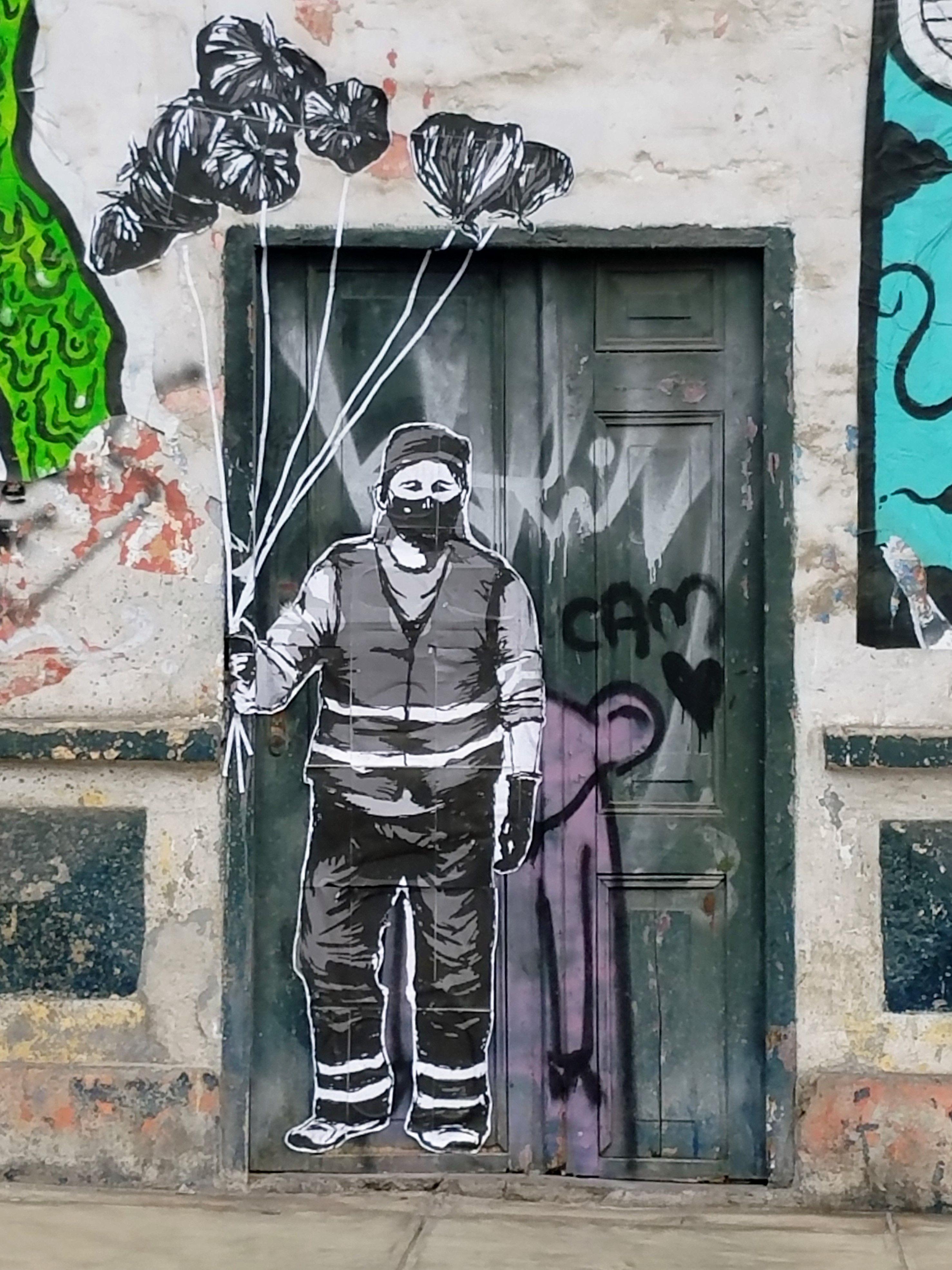 Street Art Graffiti Lima Peru This From The Barranco District
