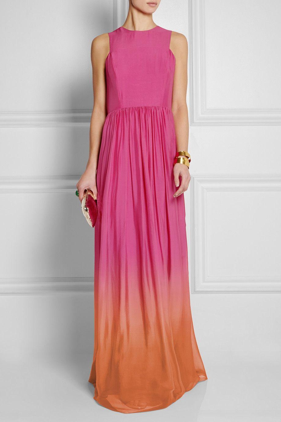 Matthew Williamson   Dégradé silk-voile gown   NET-A-PORTER.COM ...