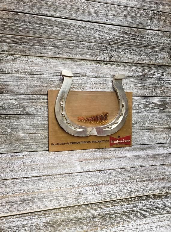 Vintage Beer Sign Clydesdale Horseshoe