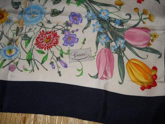 Accornero Mobili ~ Genuine vintage gucci scarf v accornero flora vintage gucci