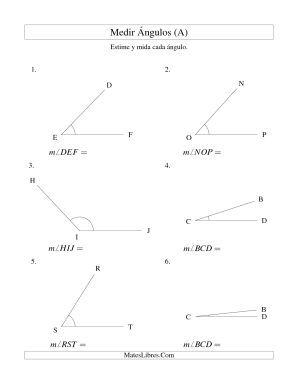 Medir Angulos Entre 5 Y 175 A Hojas De Ejercicios De Medidas Angulos Matematicas Ideas De Decoracion De Bano Geometria
