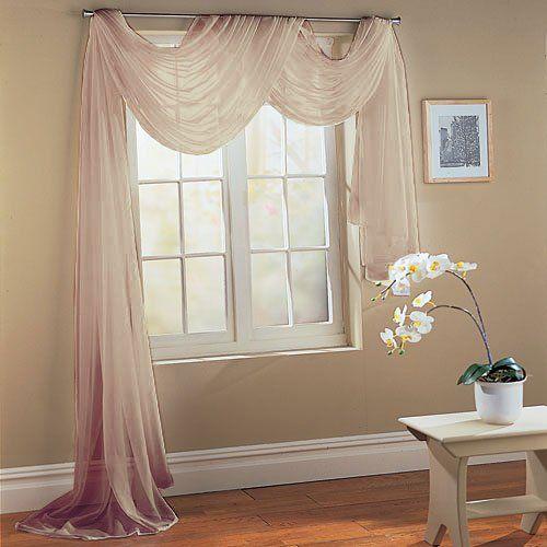querbehang freihanddeko aus transparentem voile die ideale erg nzung zu unseren gardinen. Black Bedroom Furniture Sets. Home Design Ideas