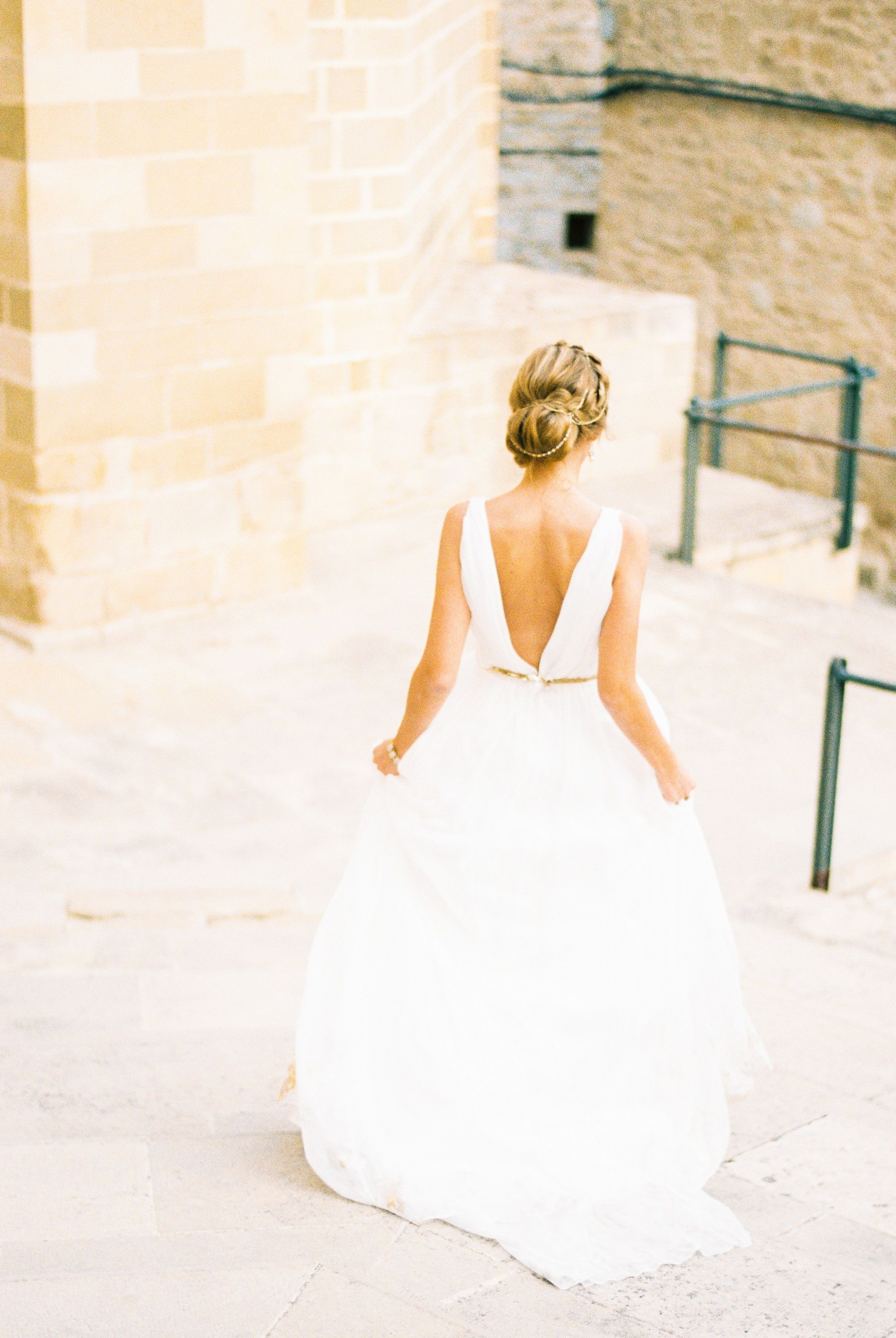 Gold belt for wedding dress  Zara wedding dress Chiffon Gold foiling Low back Gold belt