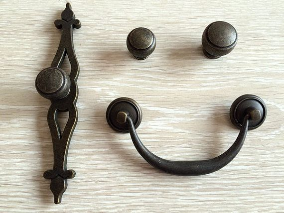 vintage look drawer knobs pulls handles dresser bail rustic kitchen rh pinterest ch