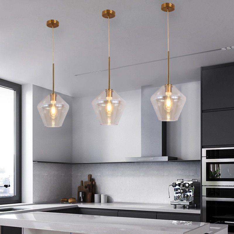 Glass Pendant Light Kitchen Modern Ceiling Lights Bar Lamp Home Pendant Lighting 6165439887883 Ebay Glass Ceiling Lights Glass Pendant Lighting Kitchen Glass Lighting