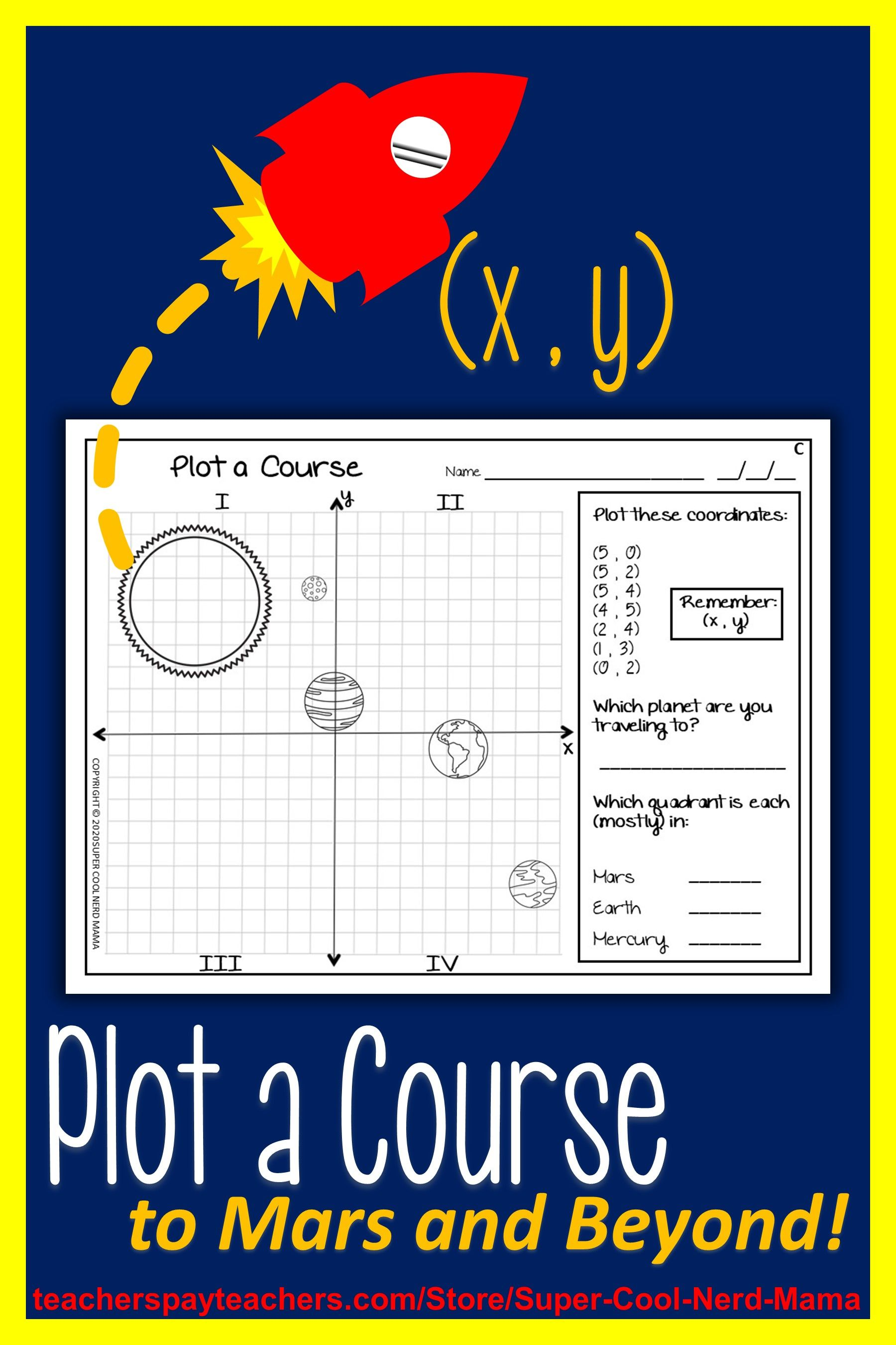 medium resolution of Outer Space Coordinate Plane   Printable teaching resources