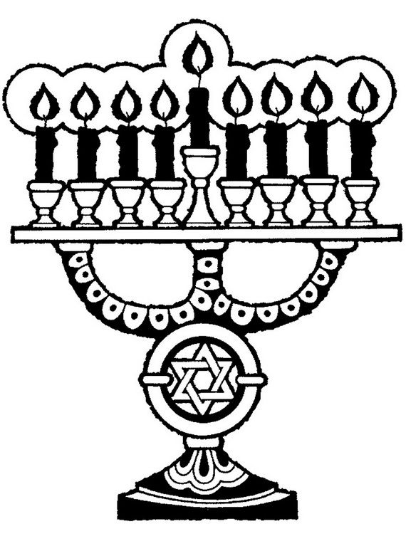 Hanukkah Coloring Pages: Menorahs | coloring pages | Pinterest