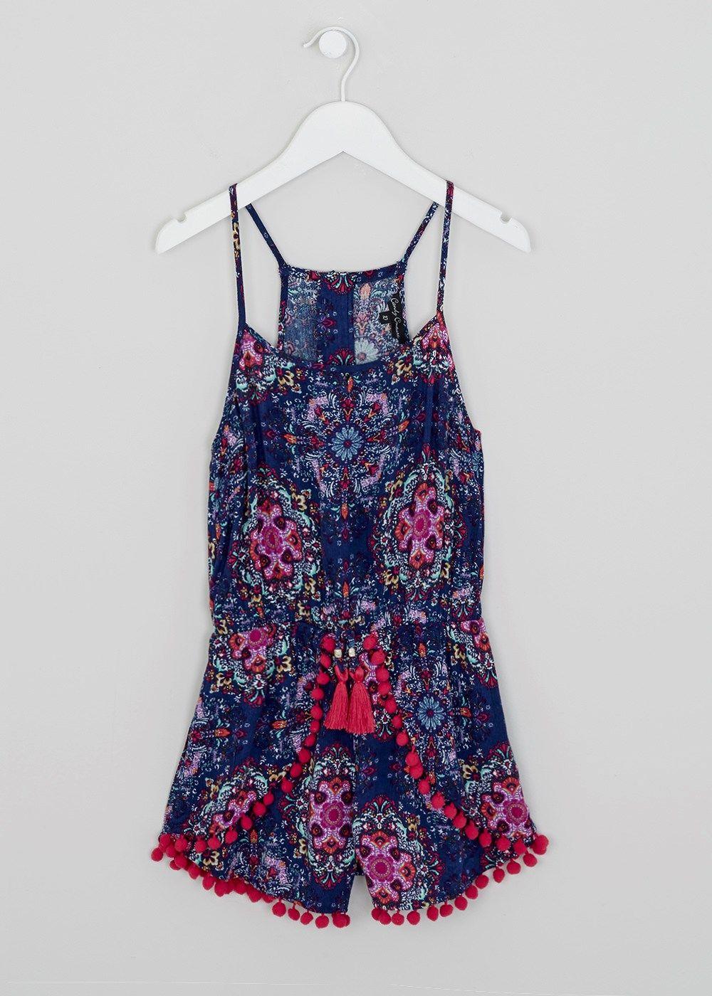 Girls Candy Couture Boho Printed Playsuit (9-16yrs) - Matalan ...