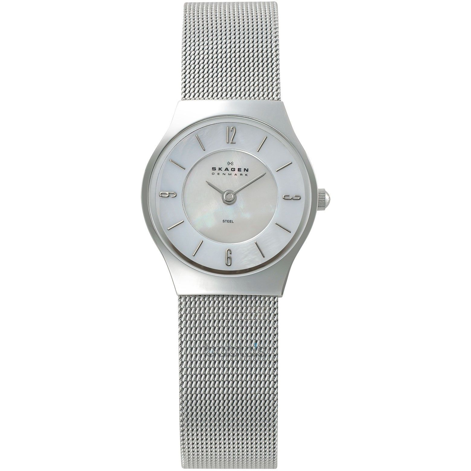 Skagen Ladies Mother Of Pearl Dial Mesh Watch 233xsss