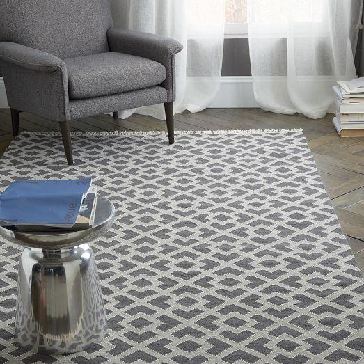 amusing living room west elm decorate shiny | The Metallic Diamond Kilim updates a classic overlapping ...
