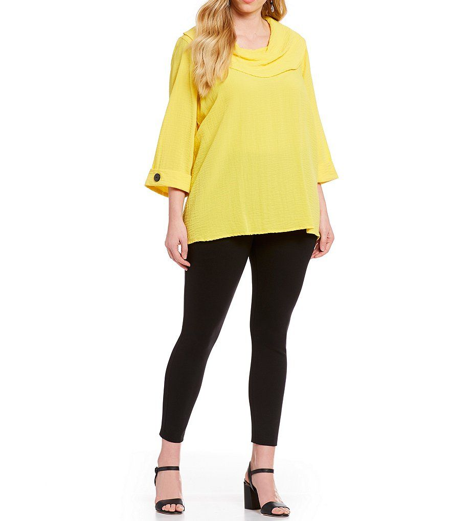 0f7195689b3 Ali Miles Plus Size Cowl Neck Crinkle Tunic Top in 2019 | Best ...