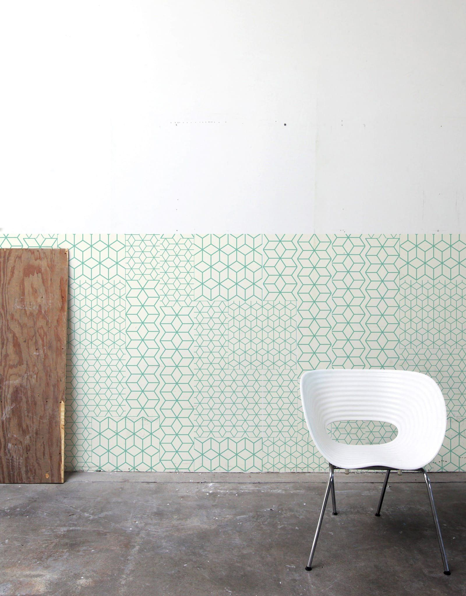 Fold Green Pattern Wall Tiles Fold Green