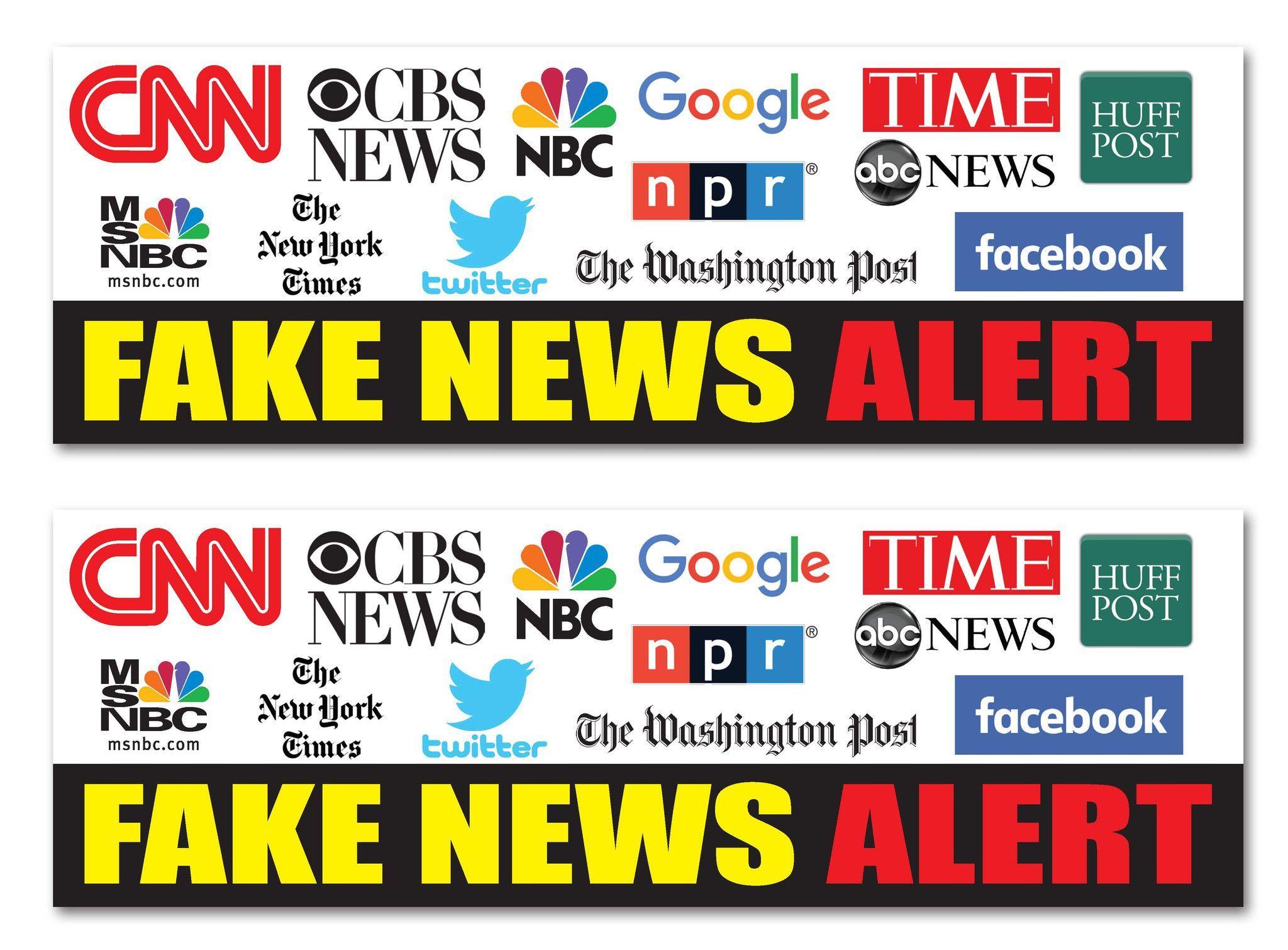Fake News Alert CNN MSNBC NPR Facebook Google 9