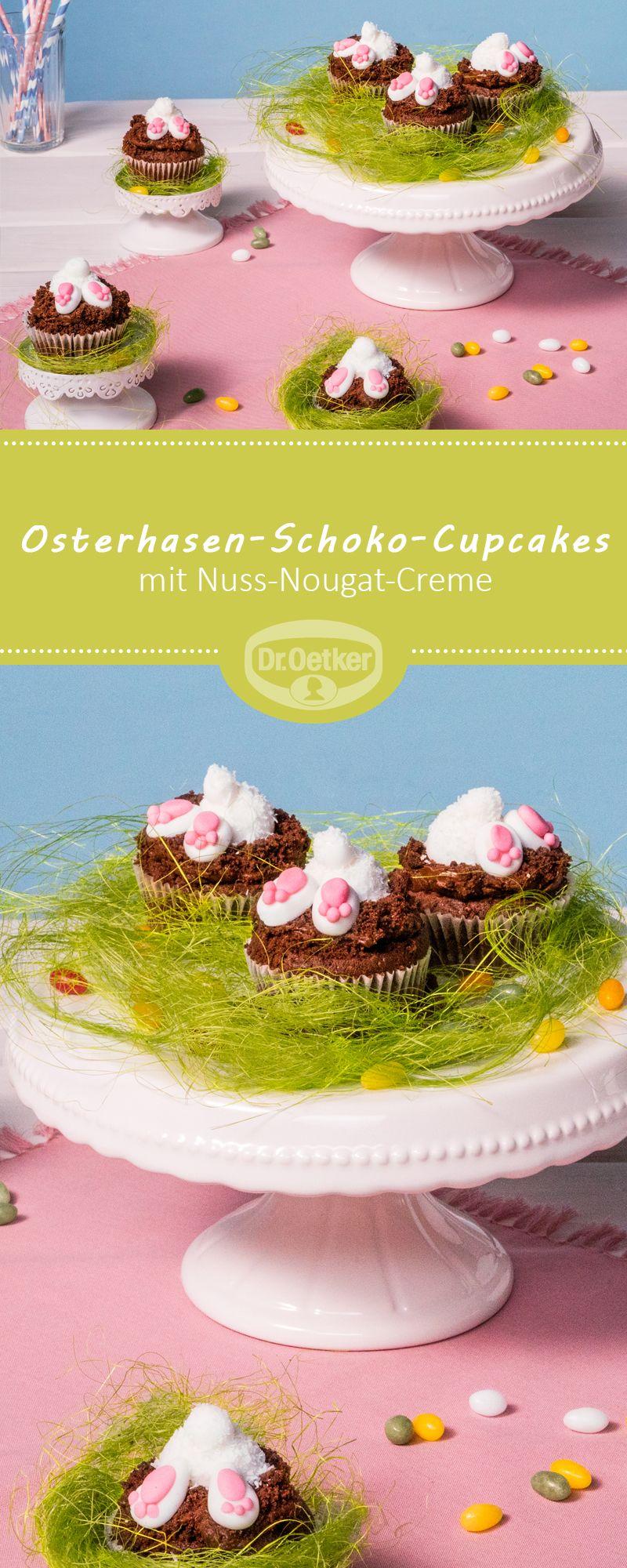 Osterhasen-Schoko-Cupcakes #chocolatepops