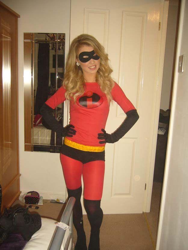Best Last Minute DIY Halloween Costume Ideas - Mrs Incredible - creative teenage girl halloween costume ideas