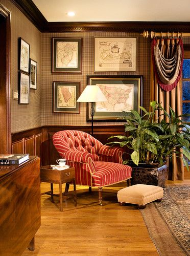 Luxury Home Study Rooms Library: Love The Dark Molding And Lighter Floors. Mahogany Library
