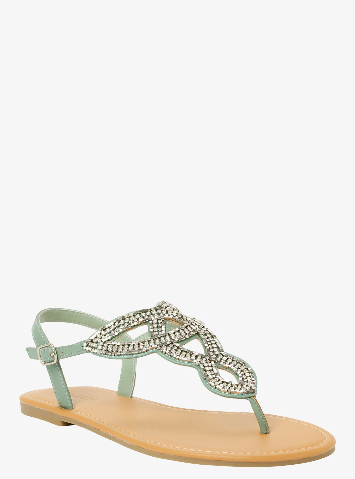 79b35e565 Gemstone T-Strap Sandals (Wide Width)