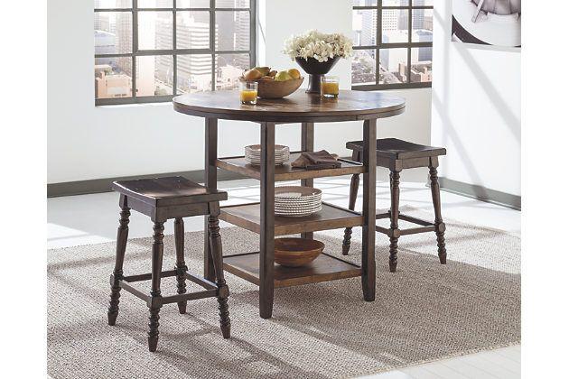 dark brown moriann counter height dining room table view 3 happy rh pinterest es