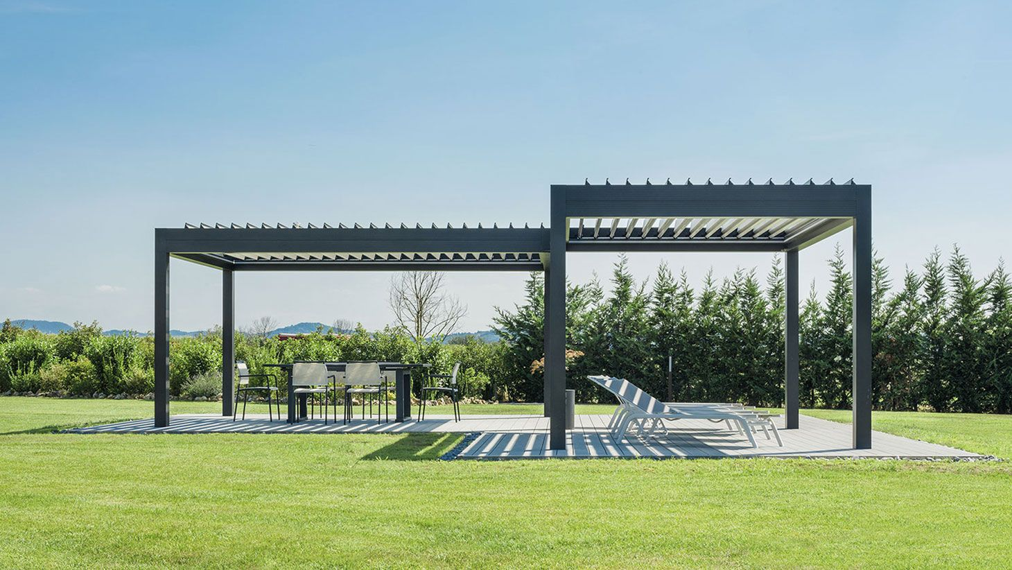 Transform Your Outdoor Living Space With Open Space Concepts Louvre Pod Outdoor Living Space Pergola Outdoor Living