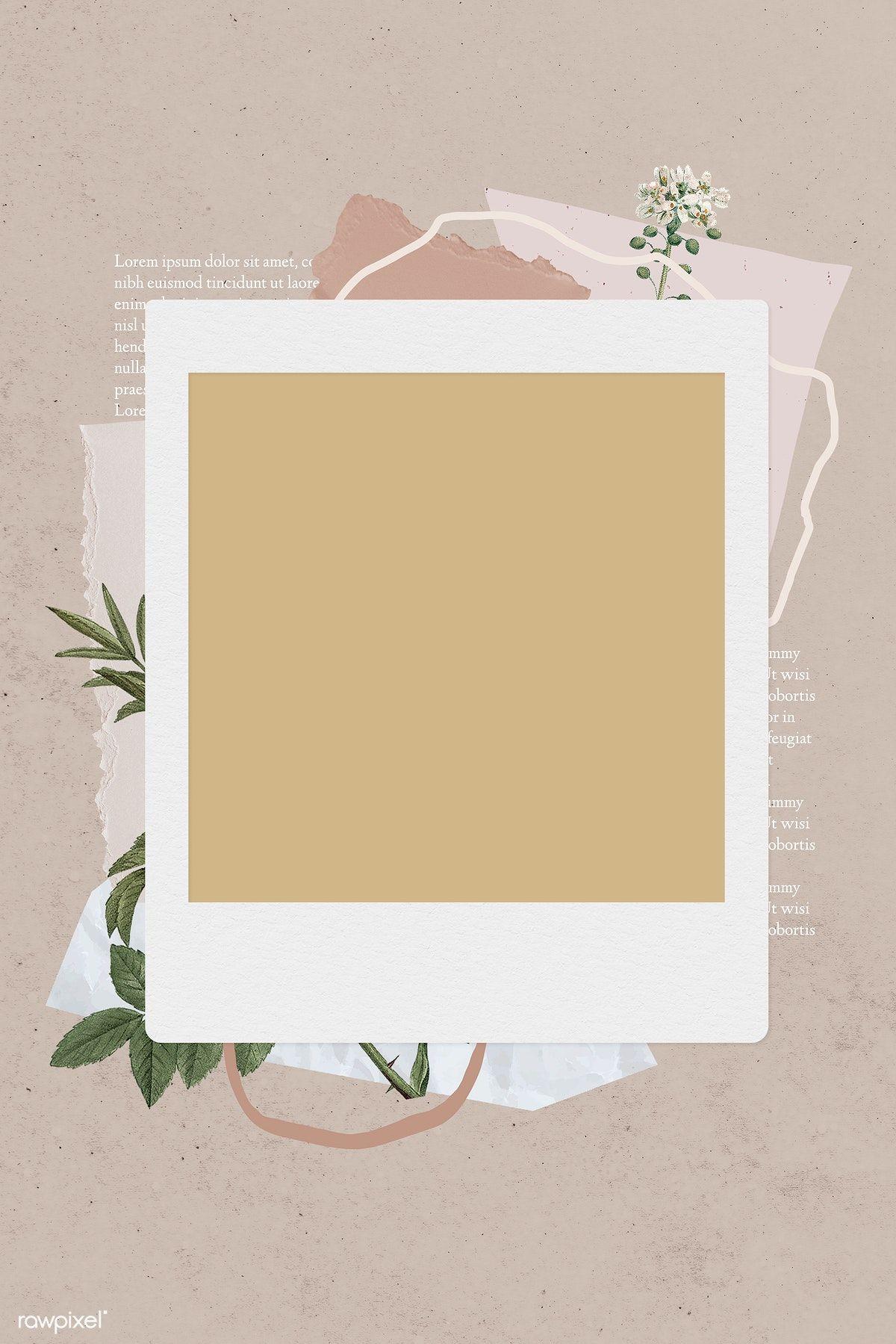 Download Premium Illustration Of Blank Collage Photo Frame Template On Ilustrasi Bisnis Kartu Pernikahan Bingkai Foto