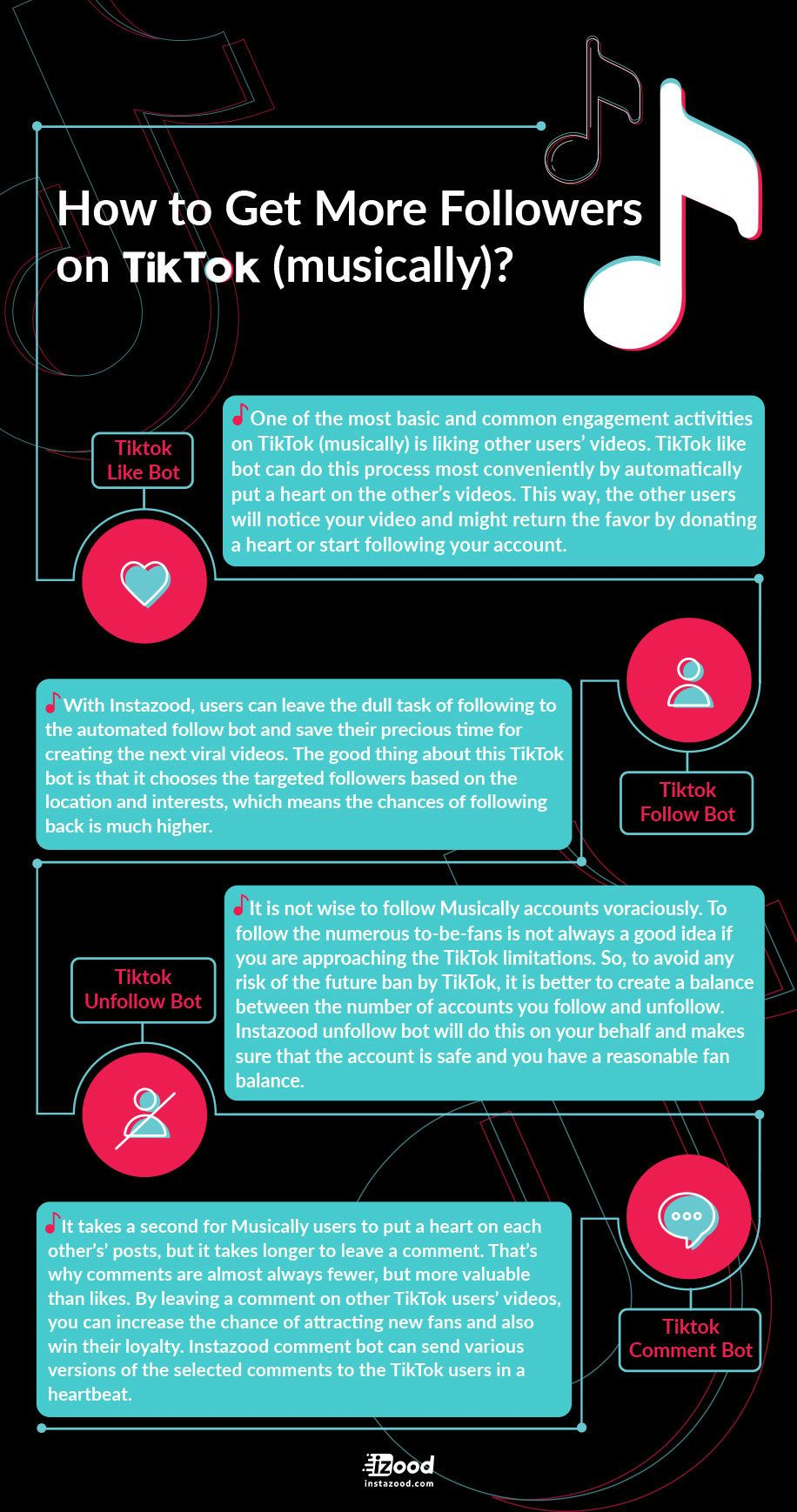 How To Get More Followers On Tiktok Musically Instazood Blog Get More Followers How To Get Followers Infographic Marketing