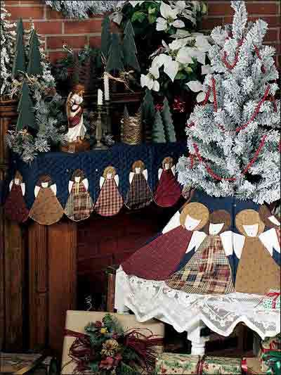 Quilting - Special Occasions - Christmas Decorations & Wall Quilts - Choir of Angels Tree Skirt and Mantel Cover Quilting Pattern - #FQ00437