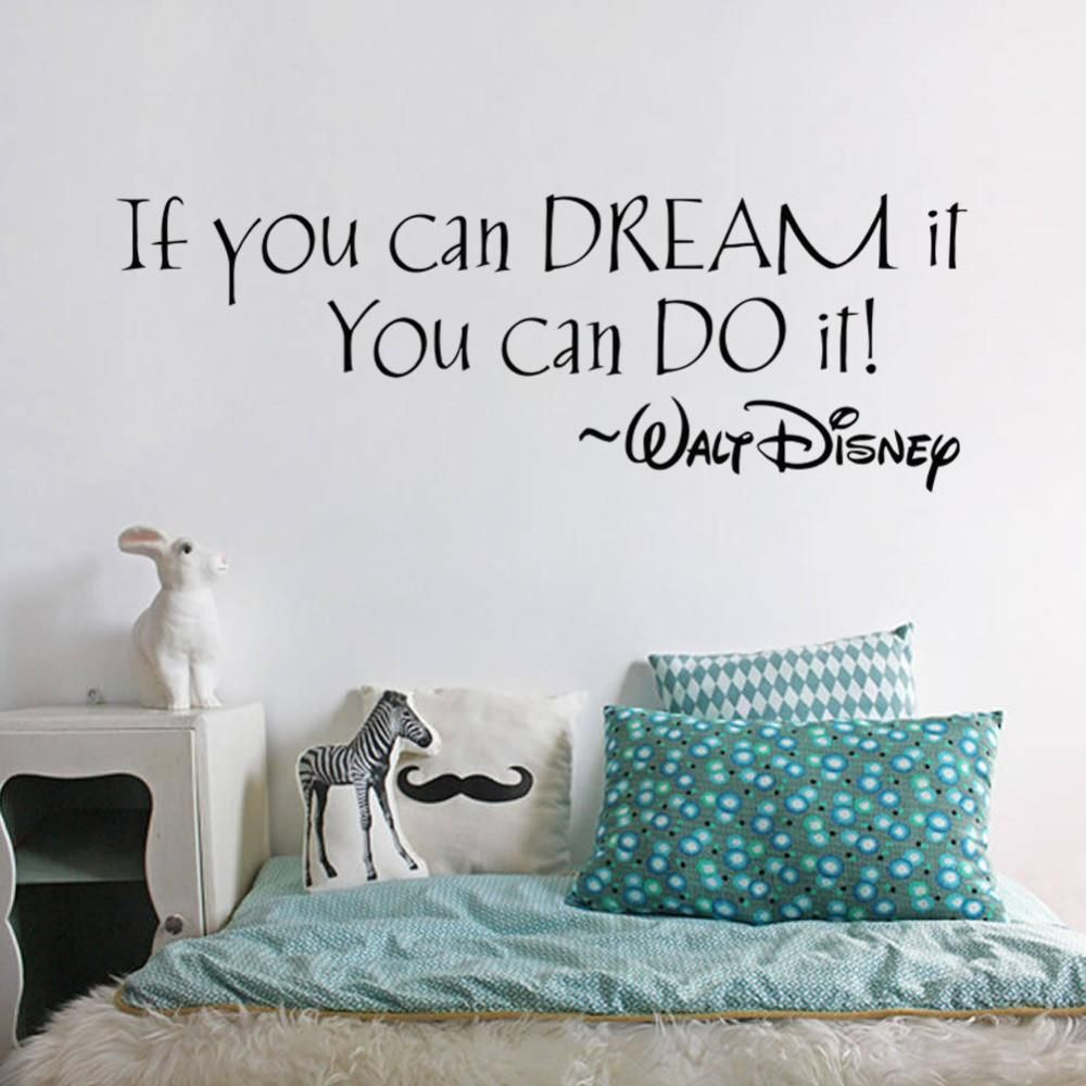 if you can dream it you can do it inspiring quotes wall stickers rh pinterest com