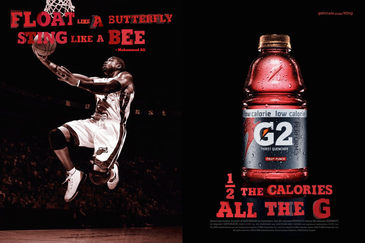 stereotypical sports drink ad with professional male