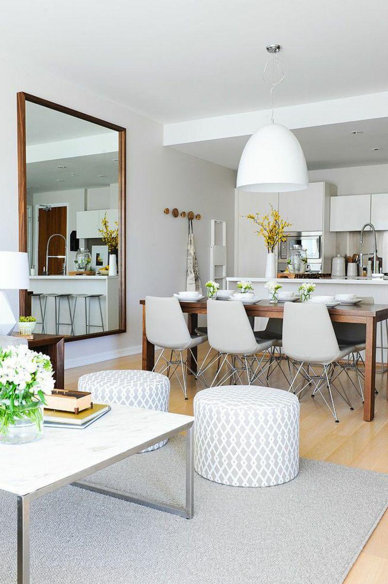 Kleine Wohnung Interieur   Wohn Und Esszimmer Zusammen
