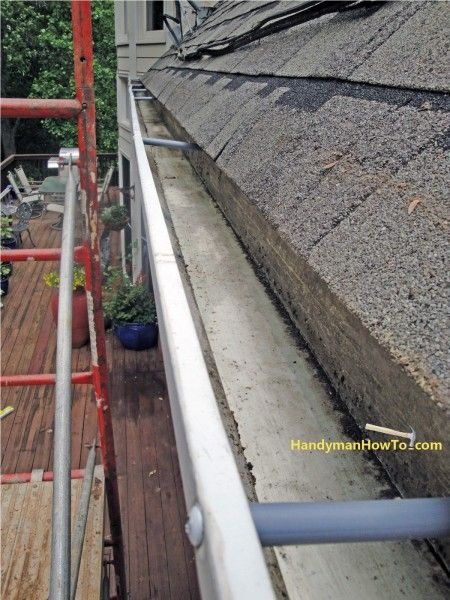 How To Install Bullnose Rain Gutter Covers Reslope The Gutters Gutter Rain Gutters Installation