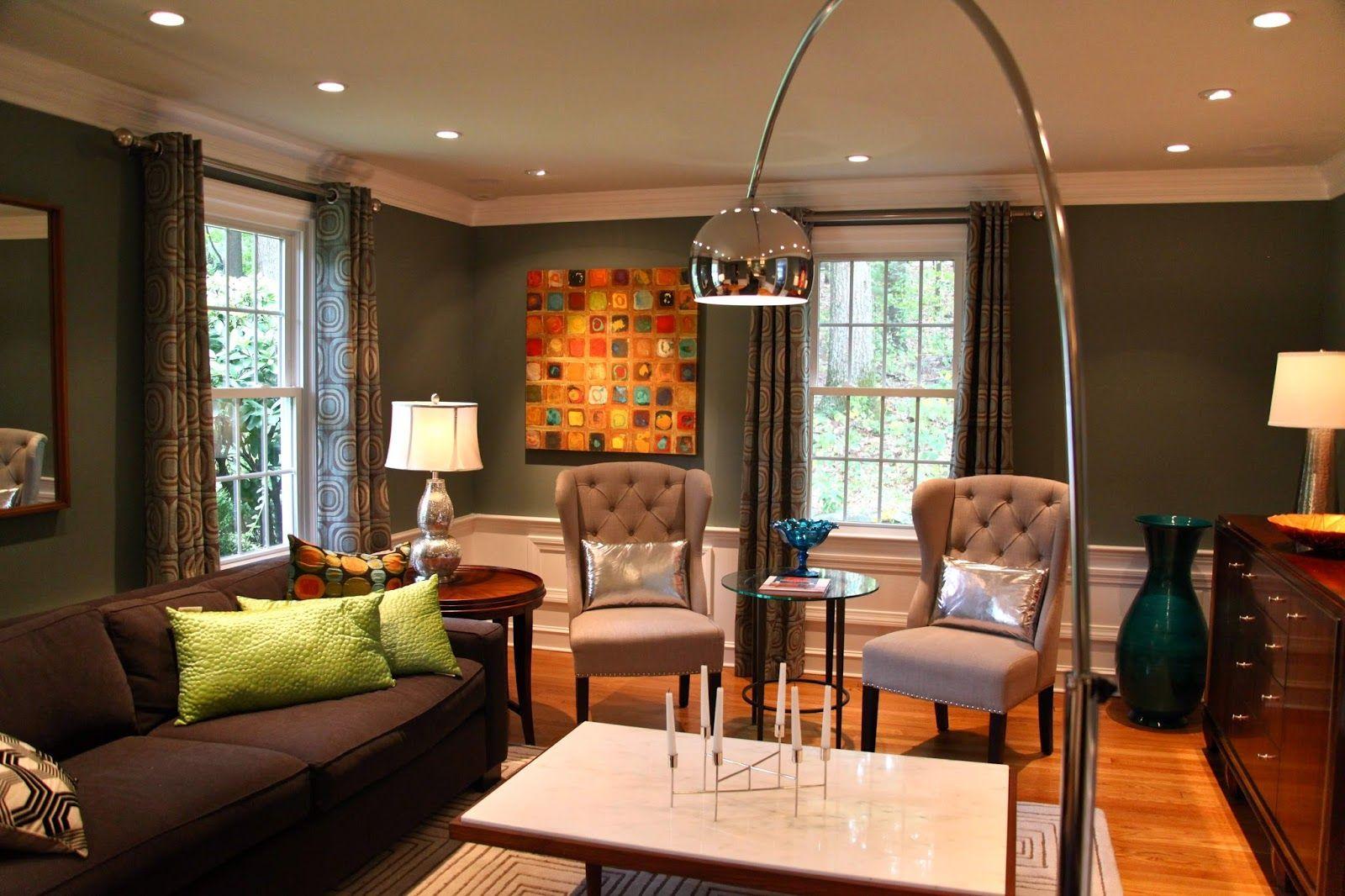 Living Room Polished Chrome Shade Minimalist Living