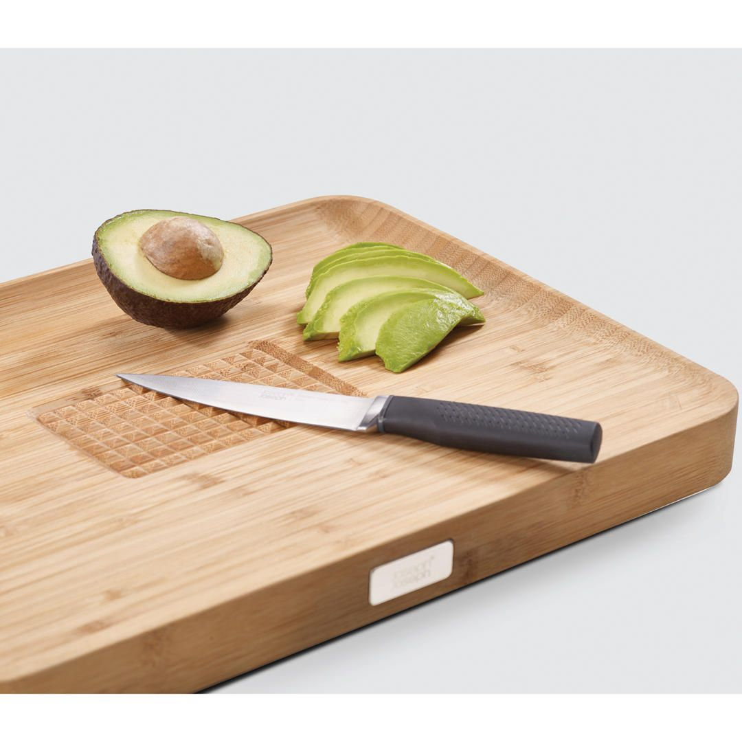 joseph joseph cut and carve bamboo wood chopping board natural rh pinterest com