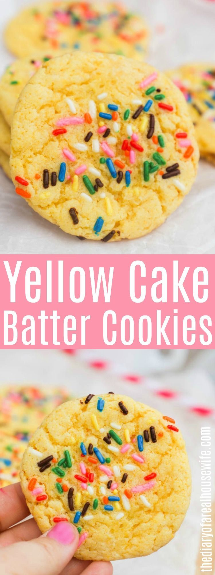 Yellow Cake Batter Cookies • The Diary of a Real Housewife