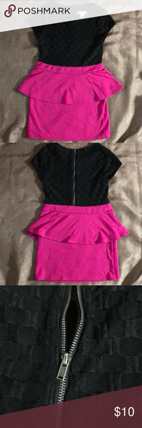 Sally Miller Peplum Dress Great Condition  Zipper back Sally Miller Dresses #sallymiller