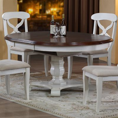 Andrews Round-to-Oval Dining Table with Butterfly Leaf ...