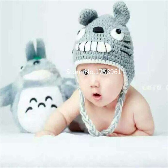 Click to Buy << Cotton My Neighbor Totoro hat,Baby Knit Crochet ...