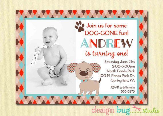 Puppy Dog Birthday Invitation