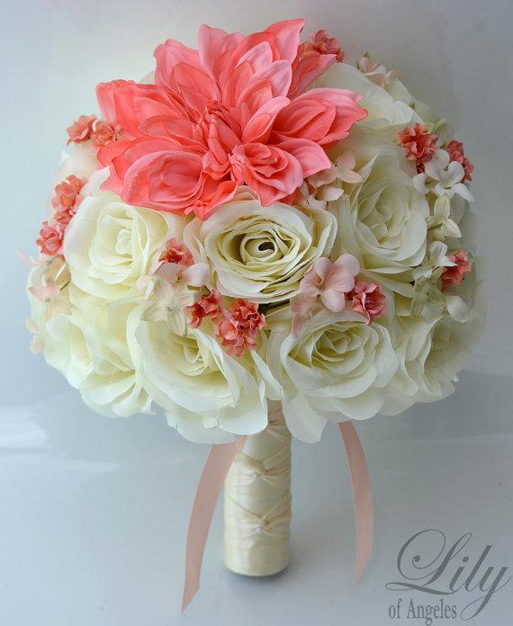 Wedding Bouquet Bridal Bouquet Bridesmaid Bouquet Silk Etsy Silk Flower Wedding Bouquet Silk Flower Bouquets Silk Wedding Bouquets