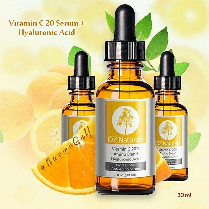 سيريم فيتامين سي من اوز ناتشورال فوائده إزالة التصبغات في البشرة إزالة طبقة الجلد الميتة الترطيب Oz Naturals Best Vitamin C Serum Natural Vitamin C