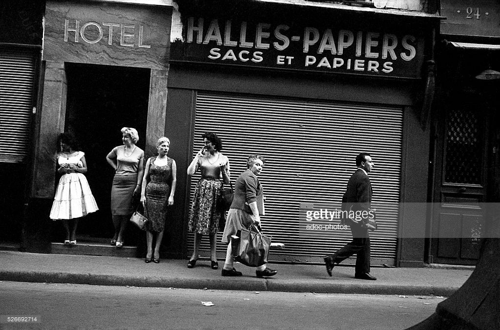 Prostitution in the Saint-Denis district in Paris (France). In 1960