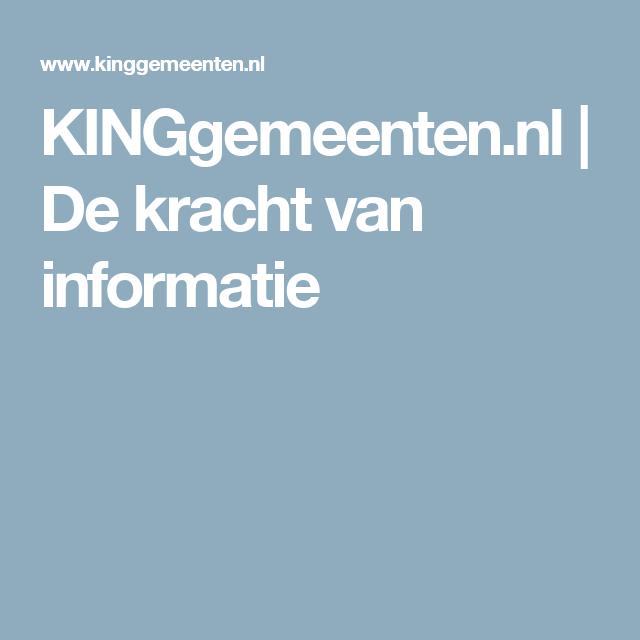 KINGgemeenten.nl | De kracht van informatie