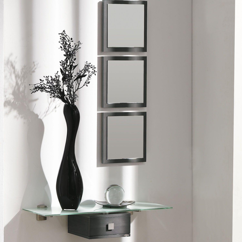 Consola y espejo aircrystal de dissery sencillo y for Espejos para hall
