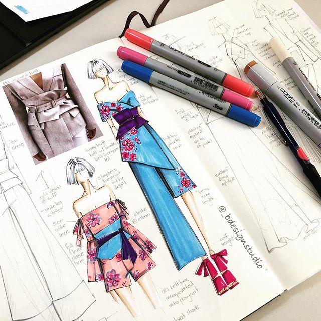 "Photo of B DESIGN STUDIO on Instagram: ""Japan vibes ©️2018 _bdesignstudio #sketching #sketch #draw #drawing #desenho #croquis #handsketch #illustration #instafashion #art…"""