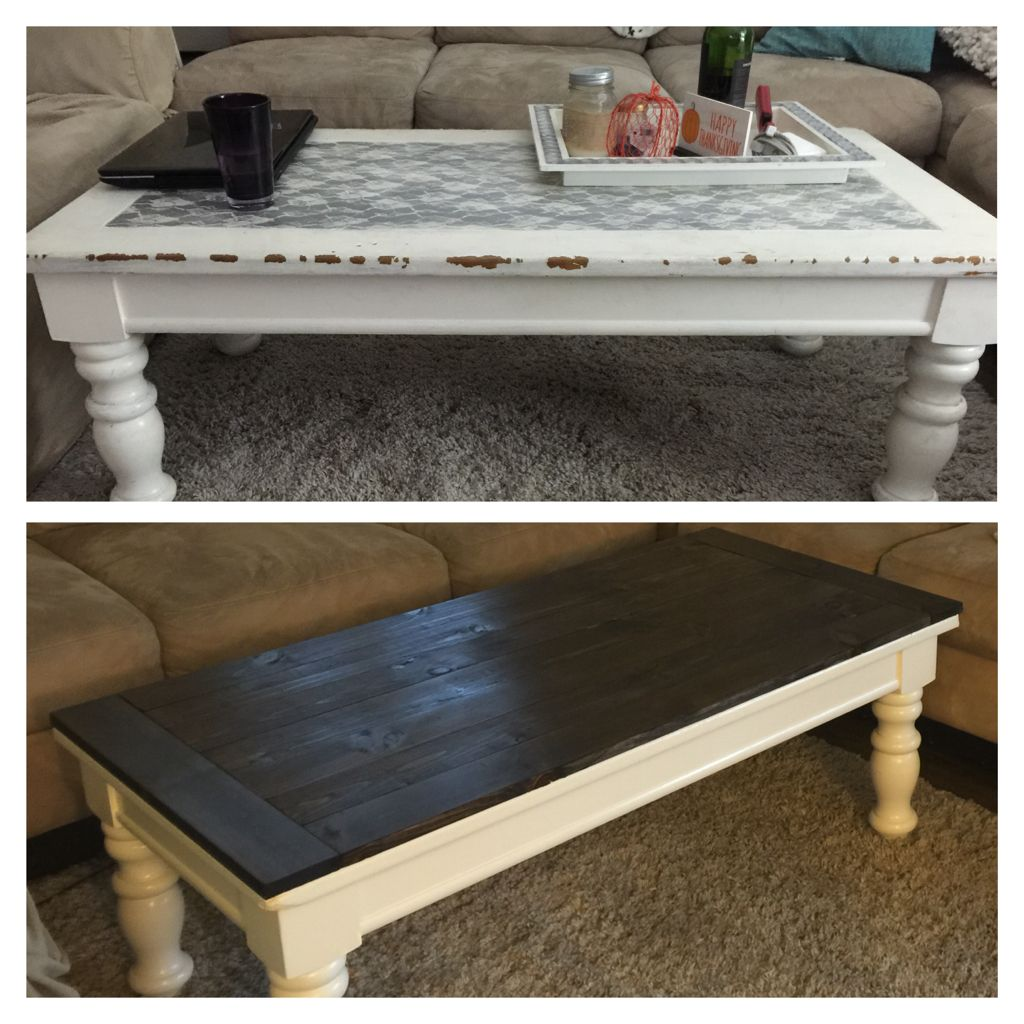 DIY, Revive Old Coffee Table!! Wood With Fresh Stain And A Fresh Coat