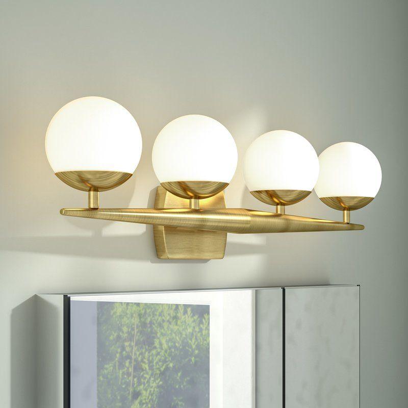Acuna 4 Light Vanity Light Reviews Allmodern Vanity Lighting Modern Rustic Interiors Shabby Chic Furniture