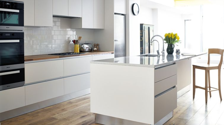 Handleless kitchen google search kitchens pinterest handleless kitchen kitchens uk and - White kitchen ideas that work ...