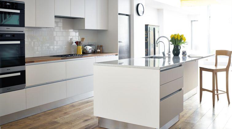 Change Your Kitchen Looks With Kitchen Work Tops Darbylanefurniture Com In 2020 Handleless Kitchen White Gloss Kitchen Wood Worktop
