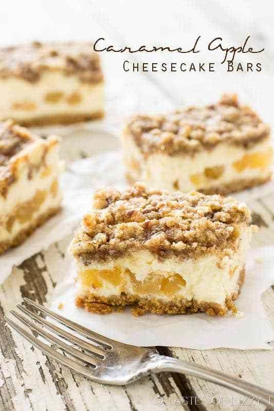 Caramel Apple Cheesecake Bars {Cheesecake Factory Copycat Recipe} #cheesecakefactoryrecipes